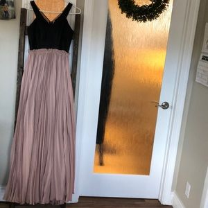 Vici high and defined faux leather maxi dress